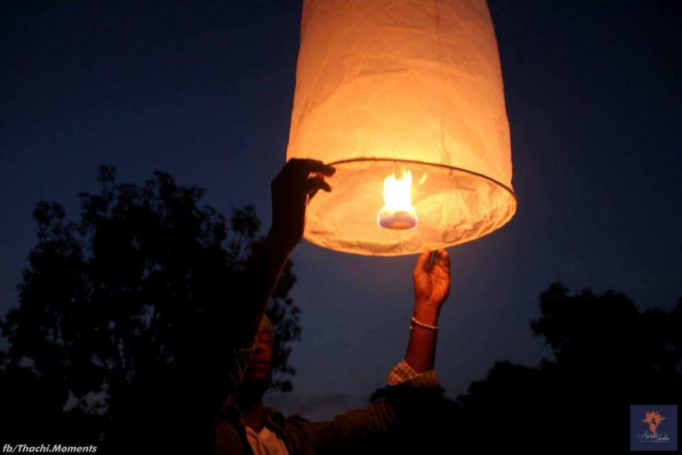 balloon The Fall and Rise at Auroville Marathon