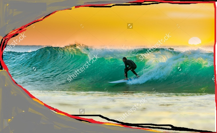 Surfer Images that Create and Energise New Neural Paths